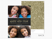 Happy New Year Flat 2 Photo Holiday Cards